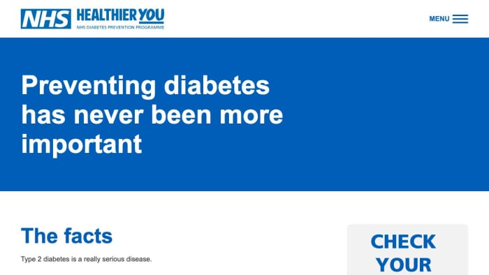 NHS Healthier You