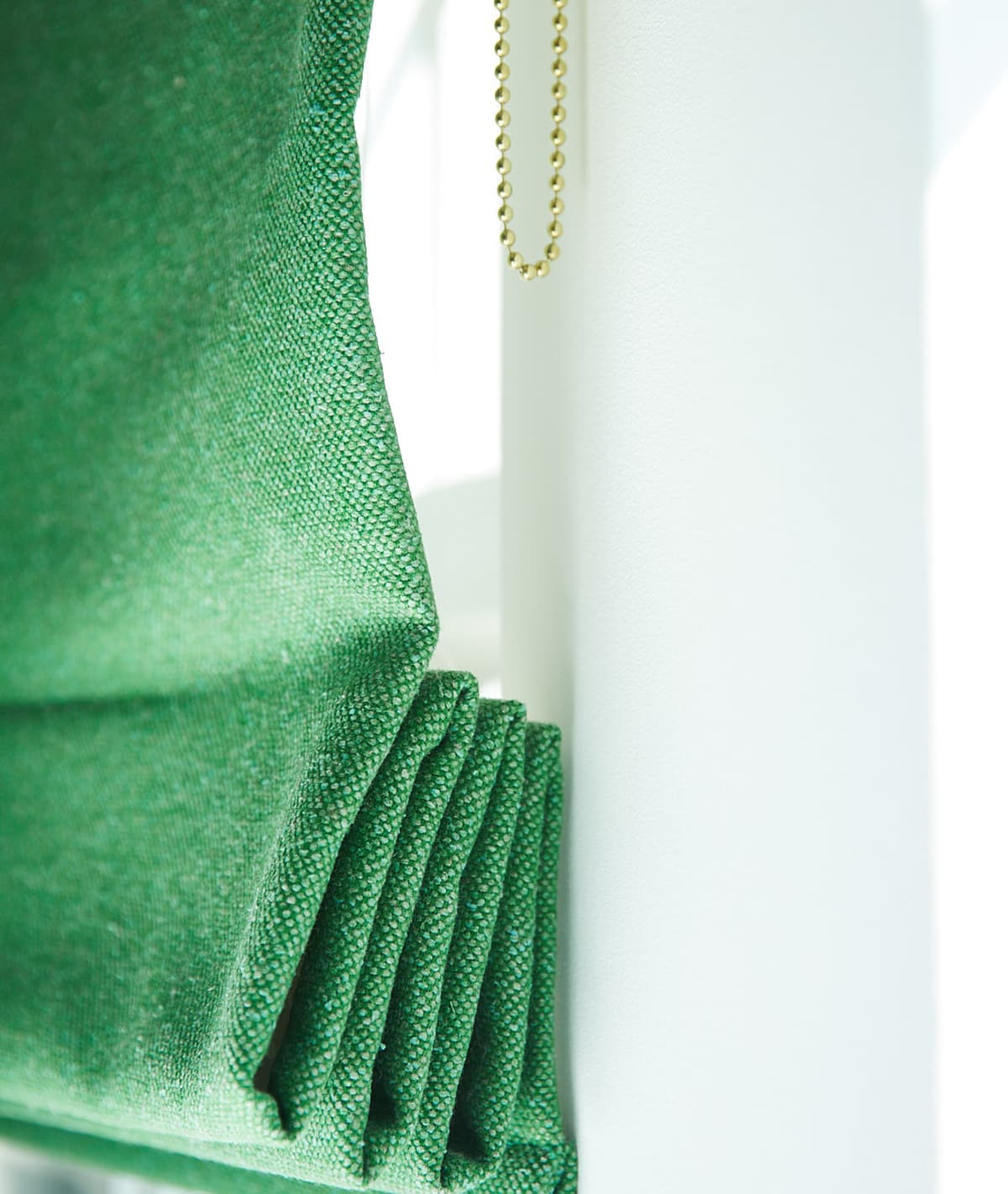 Stitched Antique Green Upcycled Silk Sustainable Curtains