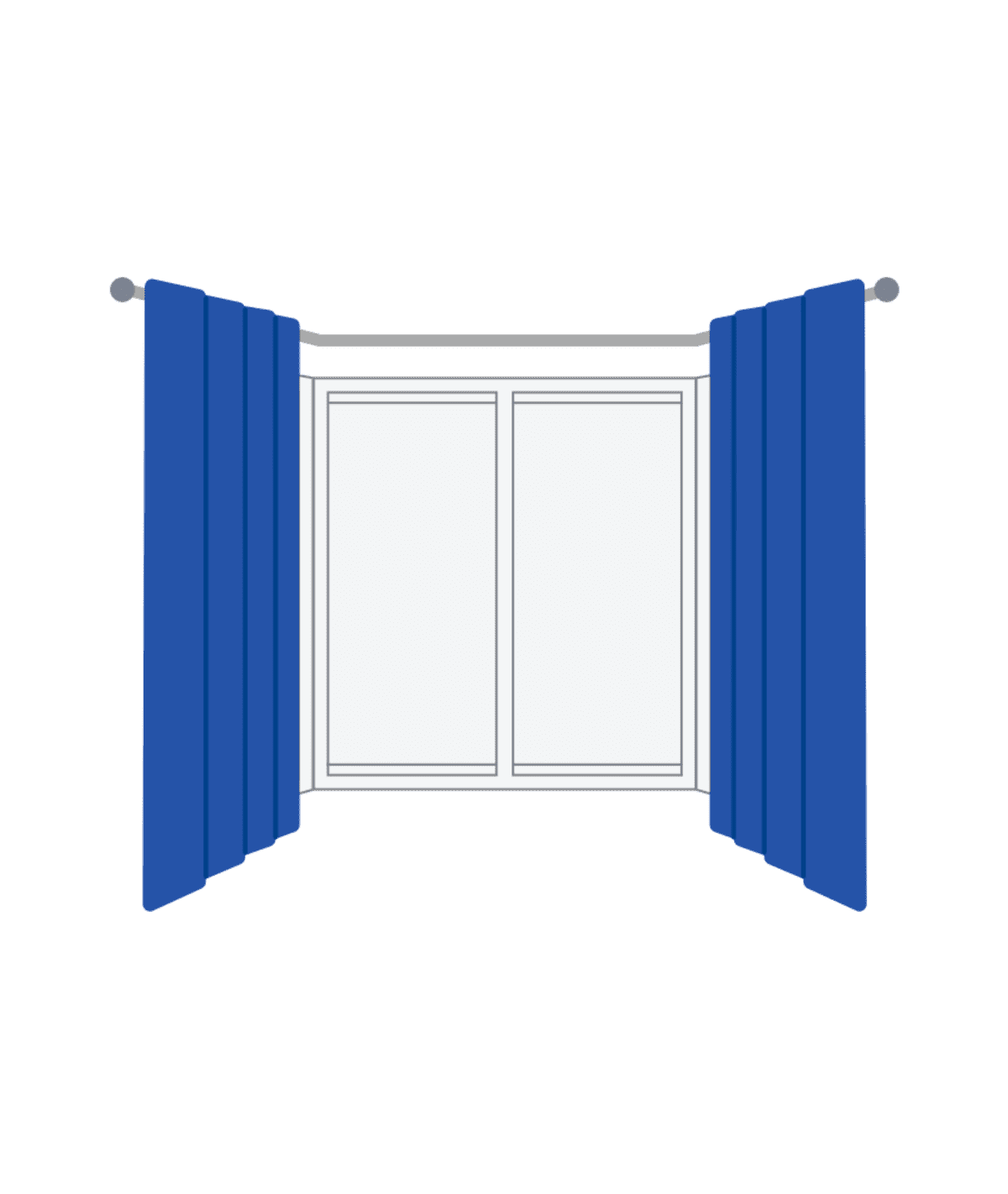 measuring bay window curtains