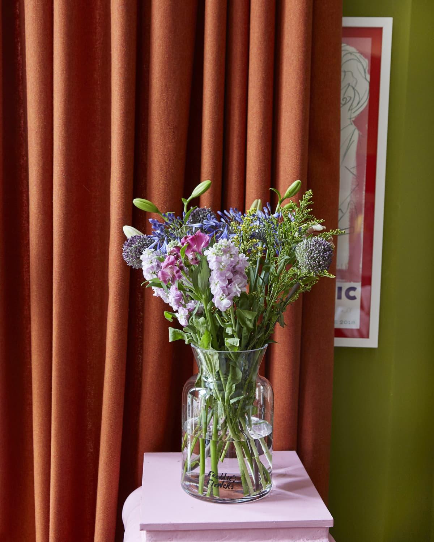 Orange curtains blinds