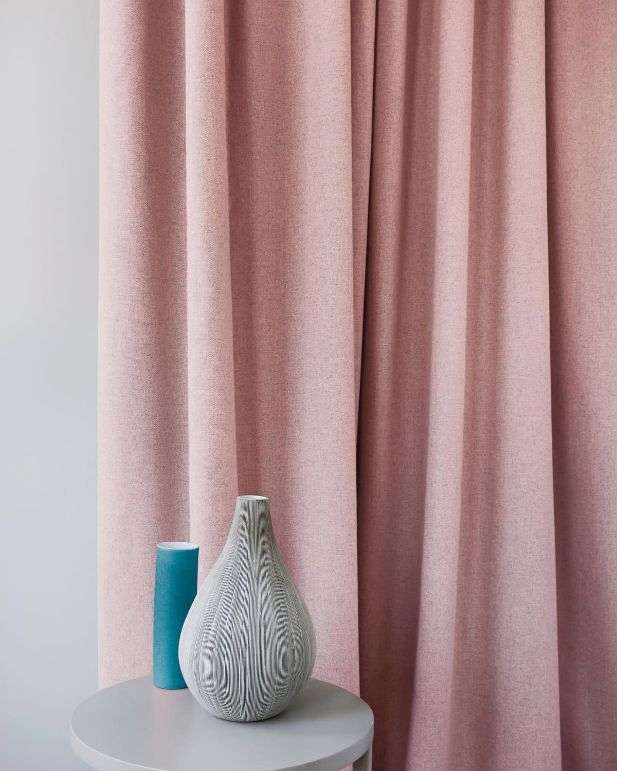 Pink curtains blinds