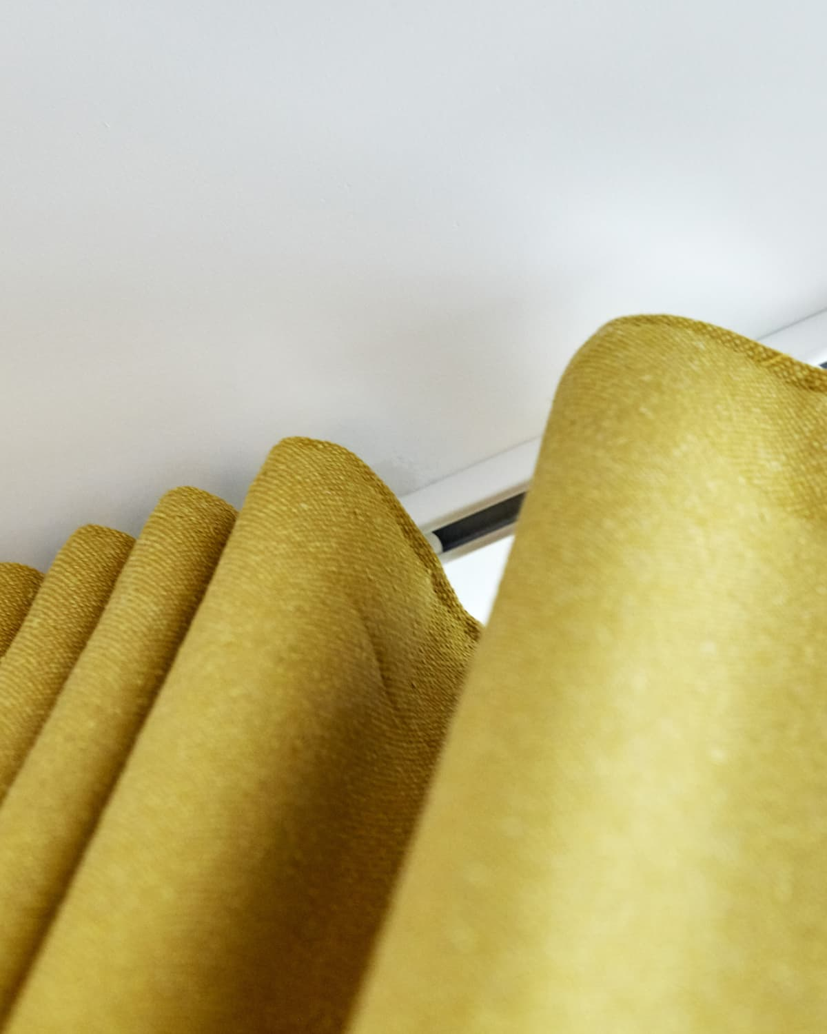 Yellow curtains blinds