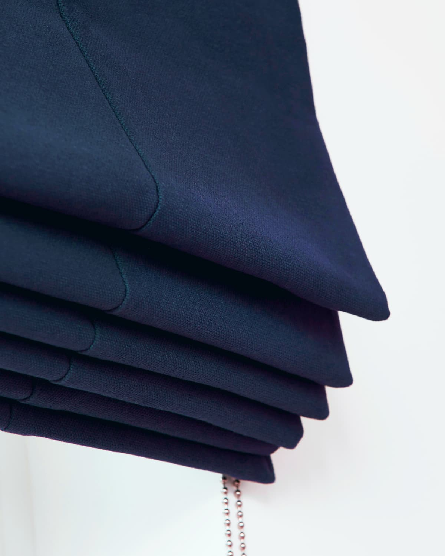 Blue curtains blinds