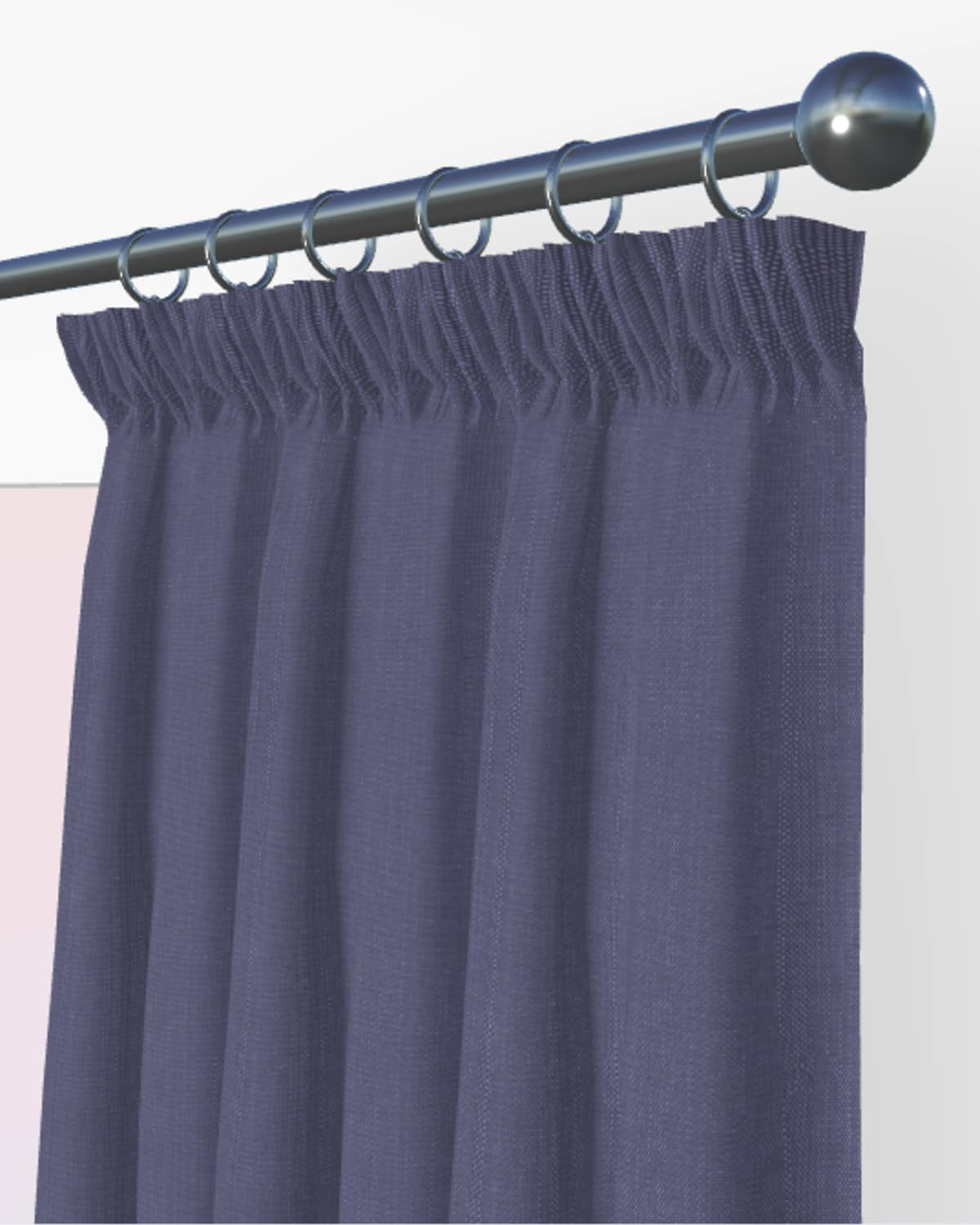 blue made to measure curtains
