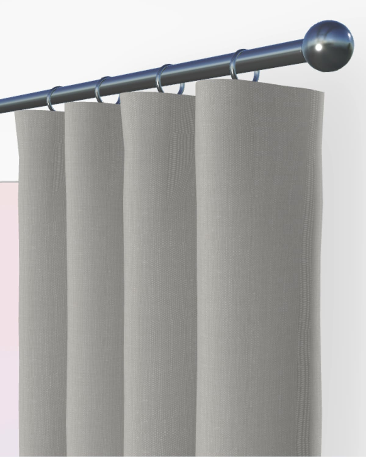 grey curtains and blinds