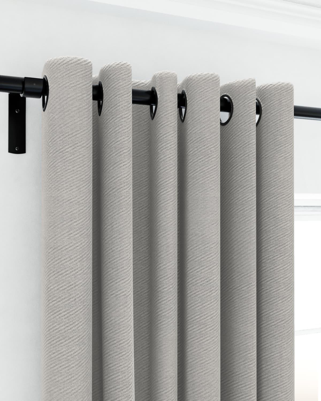 Silver eyelet curtains