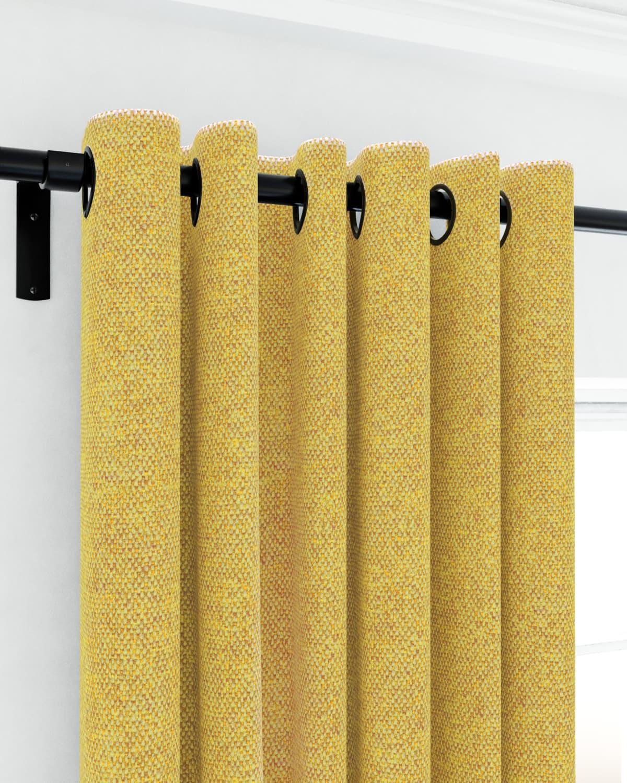 yellow eyelet curtains
