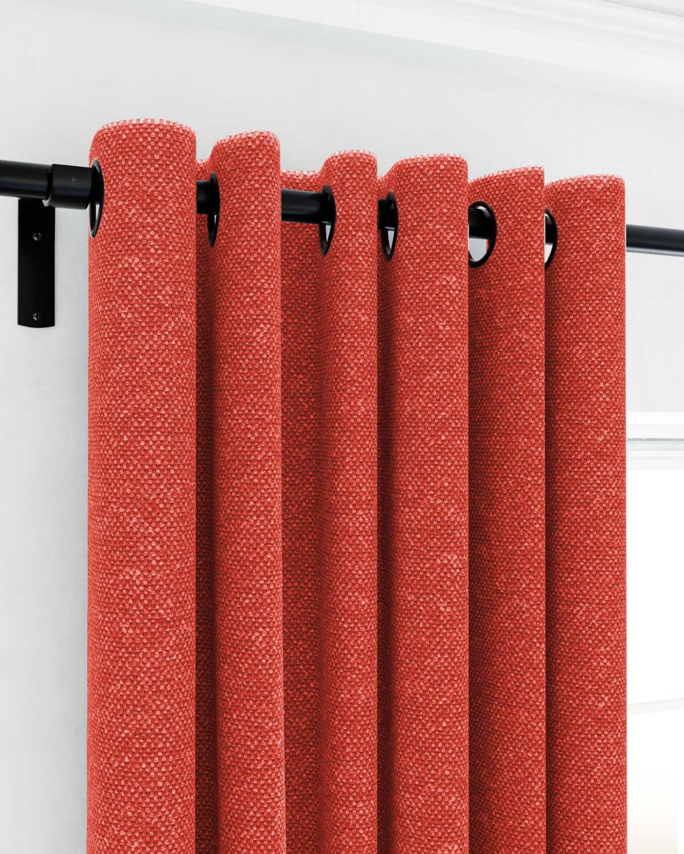 Orange Eyelet Curtains