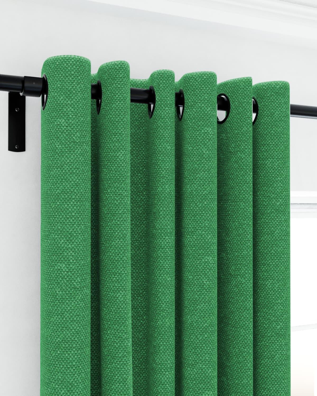 Green Eyelet Curtains