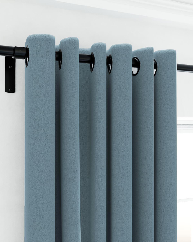 Blue Eyelet Curtains