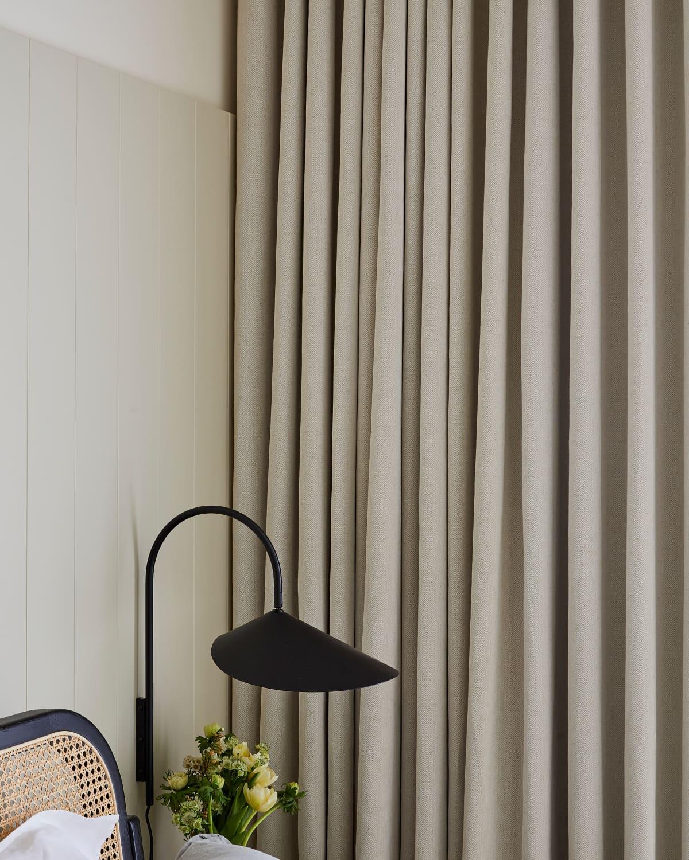 Stitched Plain Nudes White Cotton & Linen Curtains