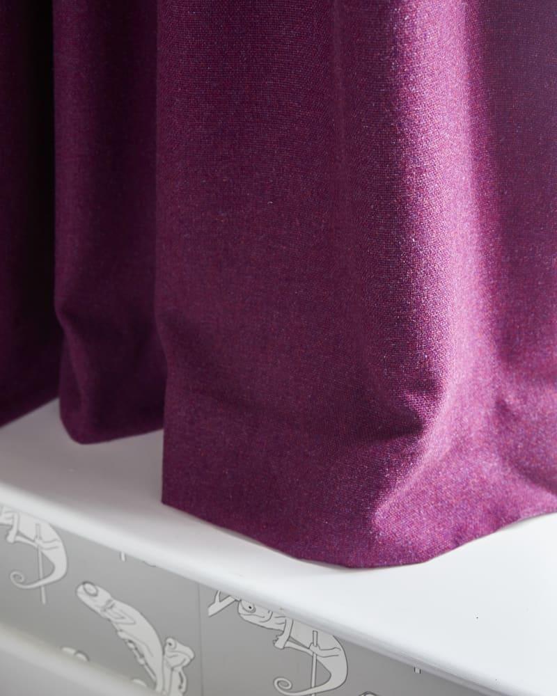 purple curtain close up