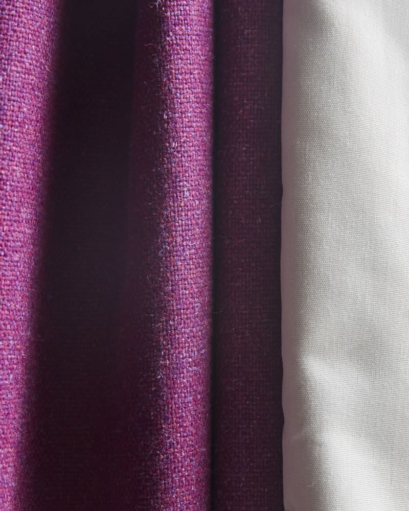 Close up of purple curtain