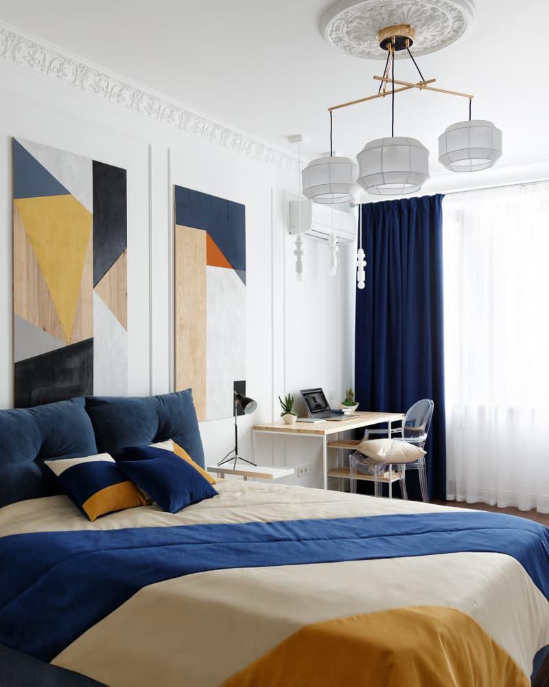 pattern inspired bedroom