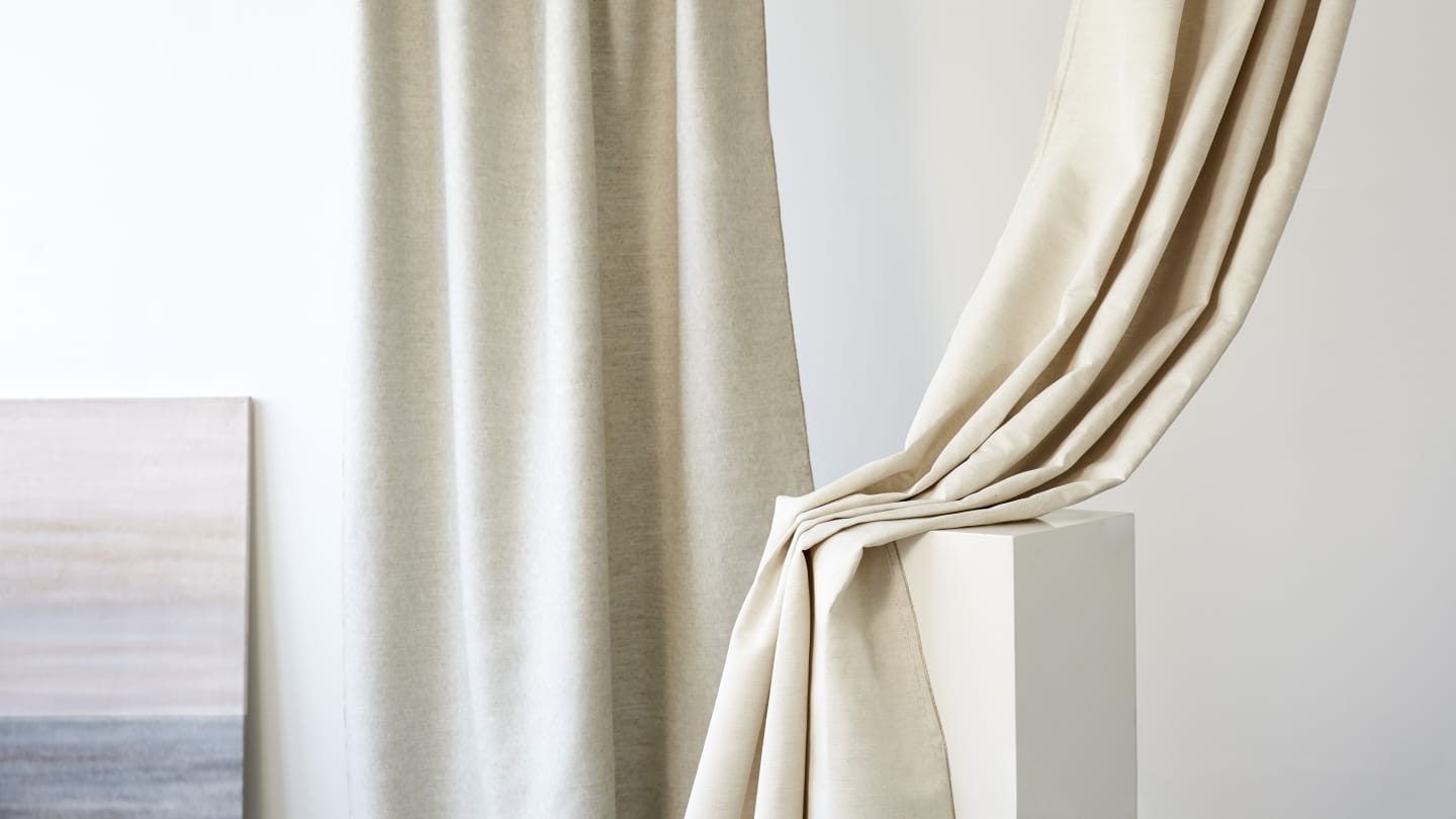 nude coloured curtains