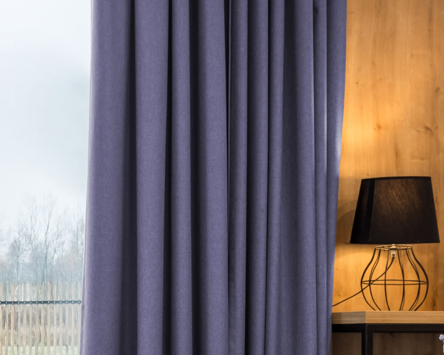 purple cotton curtains
