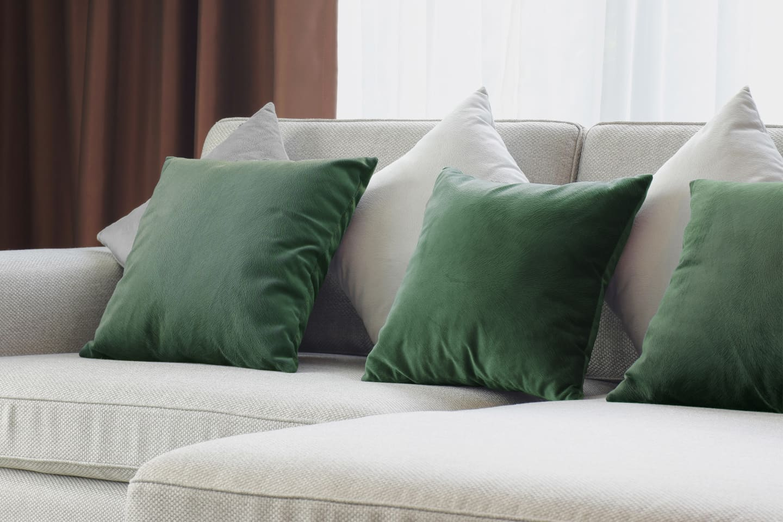 Velvet Emerald Cushions