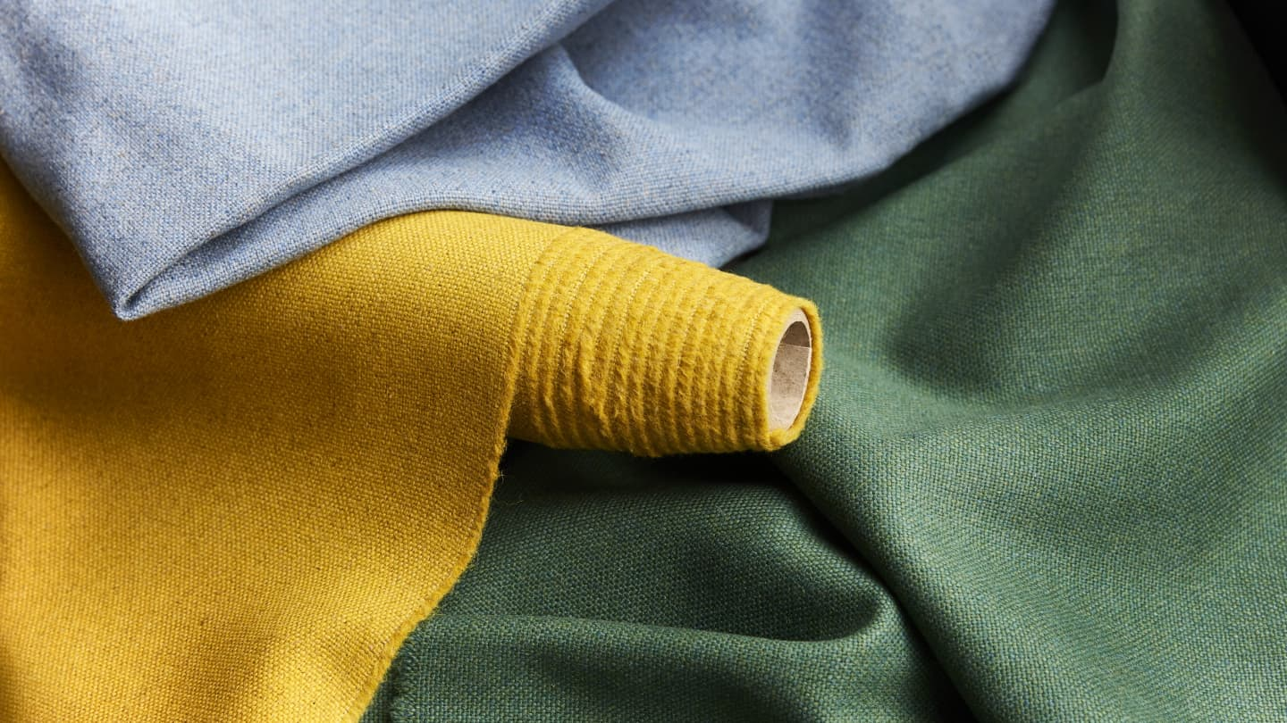 Close up of flax textiles roll