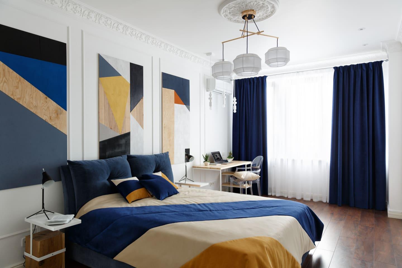 pattern inspired bedroom design