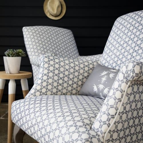 Patterned fabric chair