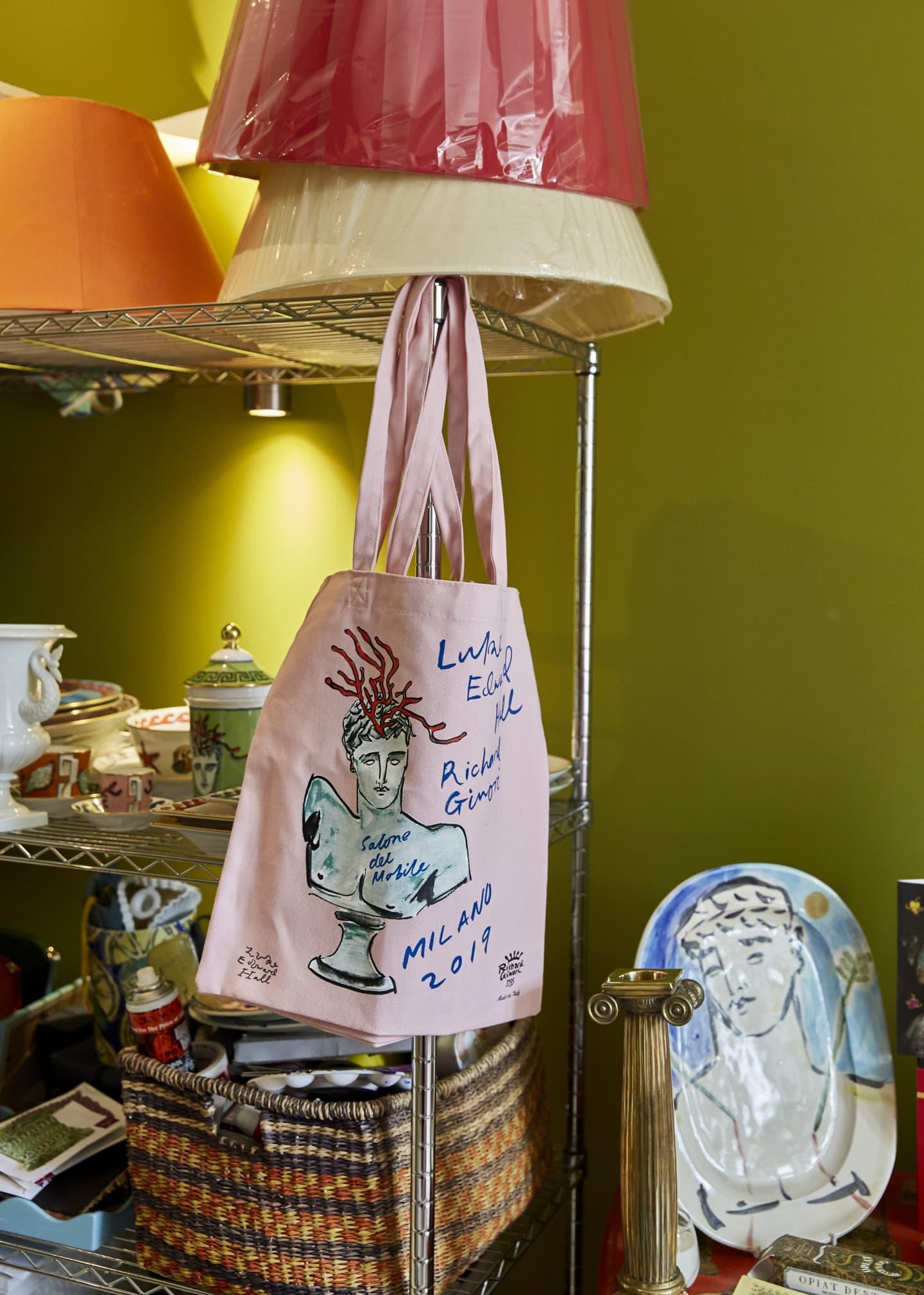 hung painted bag