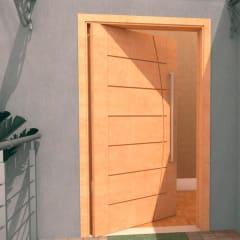 Porta Pivotante de Madeira Maciça Belíssimo
