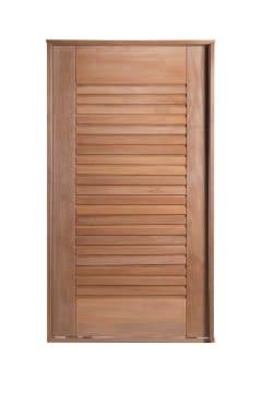 Porta Pivotante de Madeira Maciça Suiça