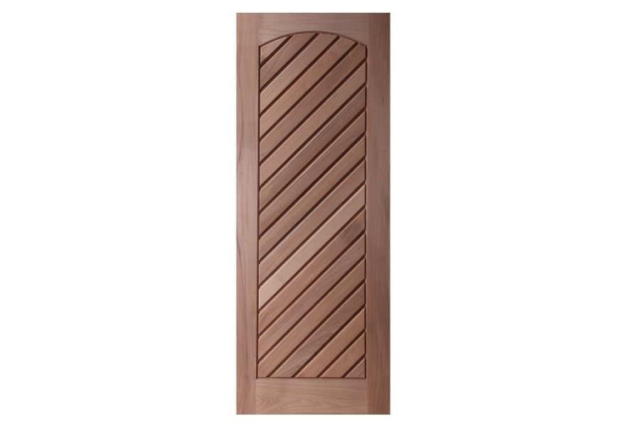 Porta de Madeira Maciça Mexicana Diagonal Padrão Cedro