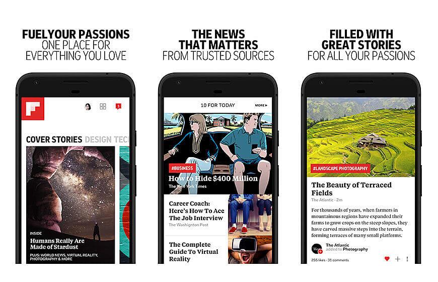 flipboard news mobile application