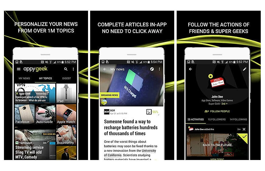 Appy Geek News Application