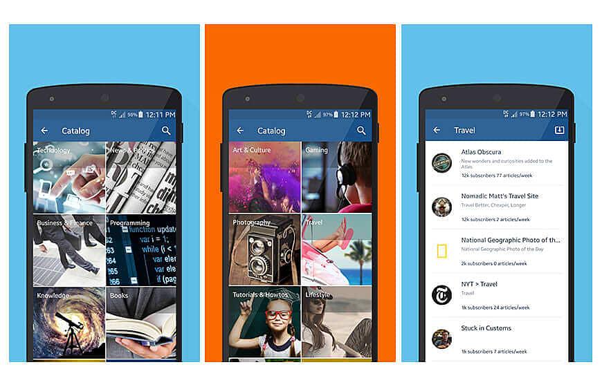 Inoreader mobile app news