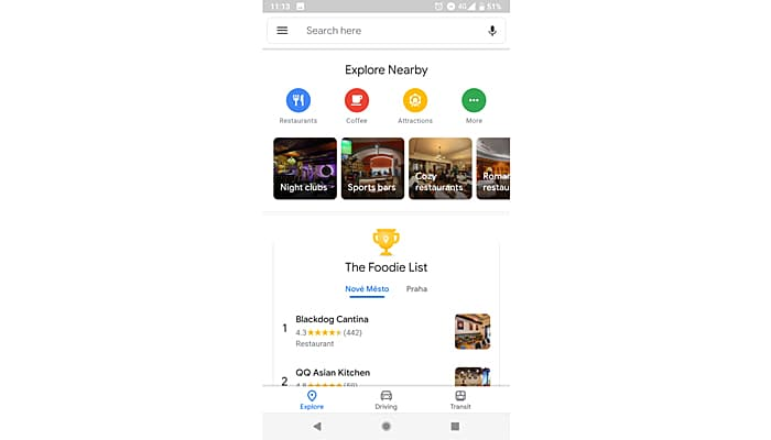 Google Maps new design