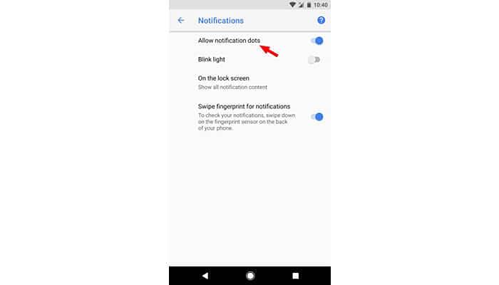 notifications dot