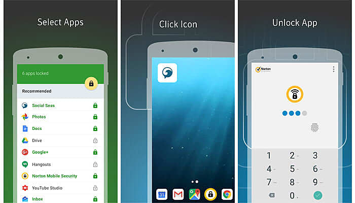 nortan app lock