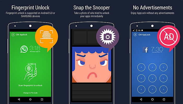 applock fingerprint unlock
