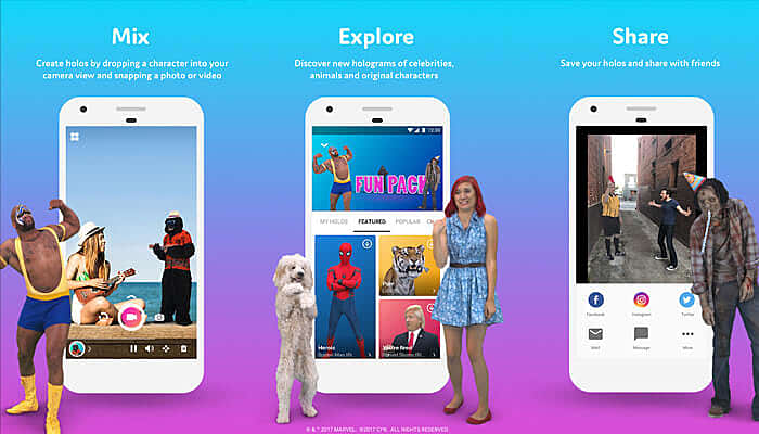 Holo: Holograms for Videos in Augmented Reality