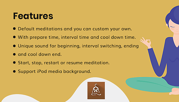 Features of Meditation Timer Pro