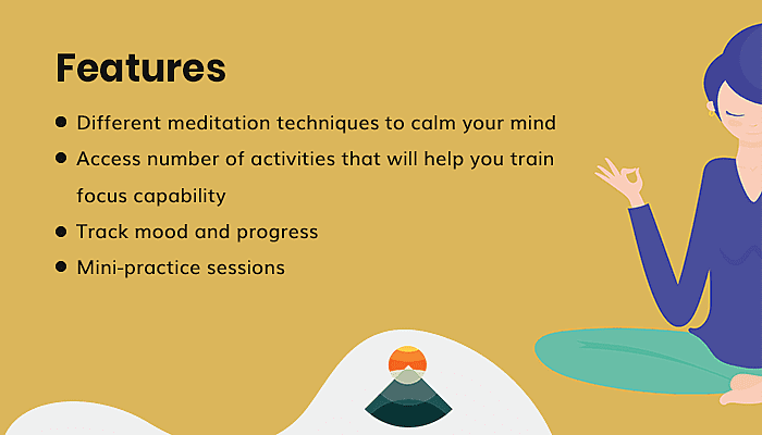 Features of Room to Breathe Meditation