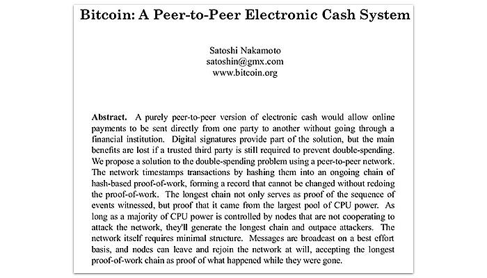 The Beginning of Bitcoin