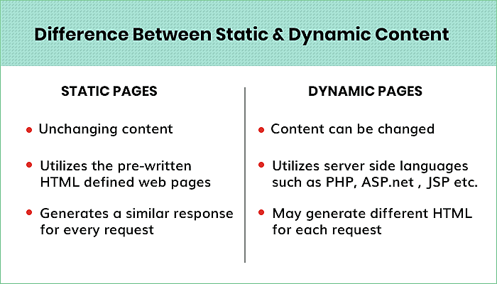Types of Web Content