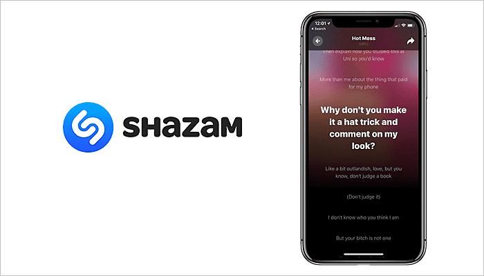 Shazam Lyric App