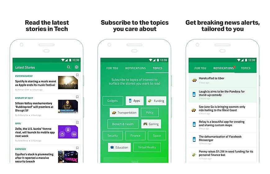 Techcrunch News Mobile Application