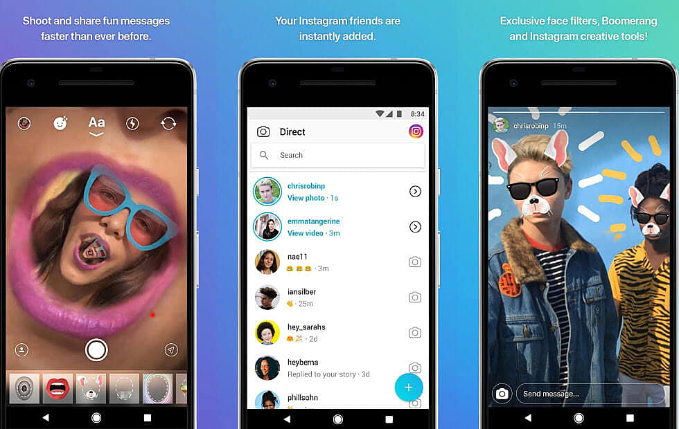 Instagram direct Mobile Apps
