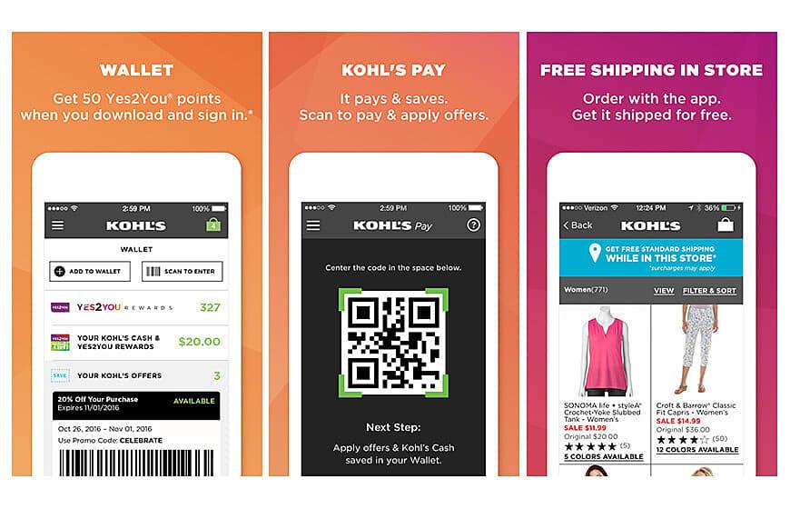 Khol's Scan Mobile App