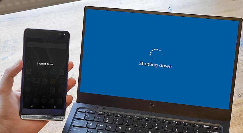 Remote shutdown computer