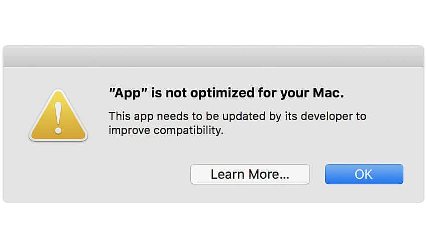 Apple End 32 bit support
