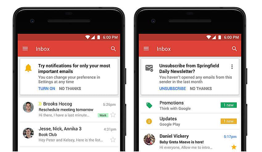 Gmail Redsign
