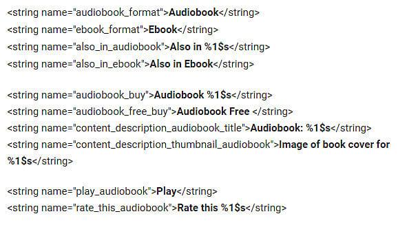 Facebook Audiobook Code