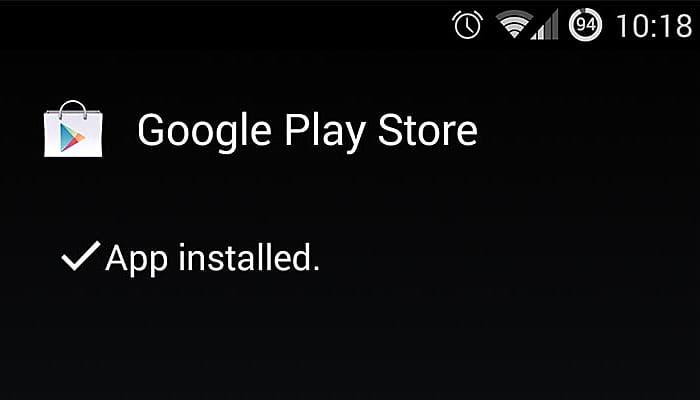 Install Google Play store