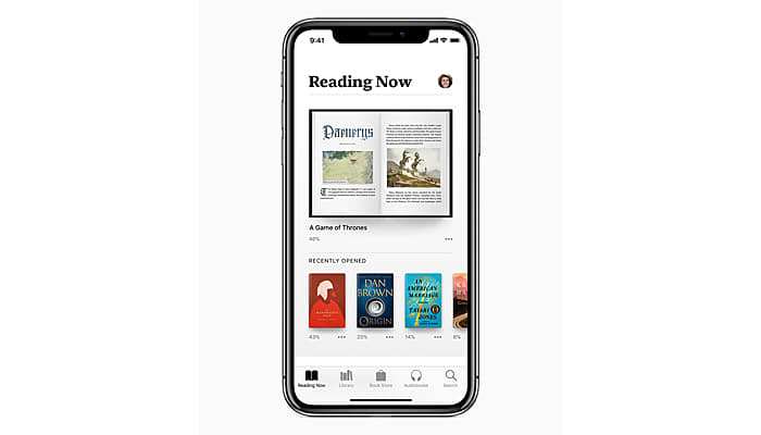 Reading Now Feature in Apple iBook